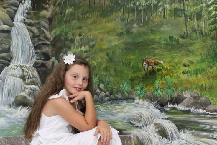 murales scala, cascata, autore Natalia Albanese
