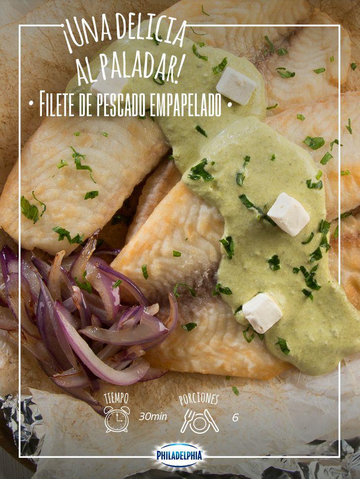 Una receta saludable y llena de sabor: Filete de pescado empapelado.