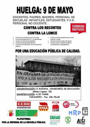 Huelga: 9 de mayo