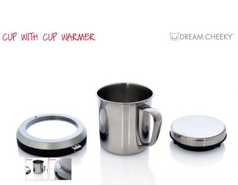 Cup with cup warmer
