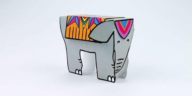 Diwali Elephant Cutout Template