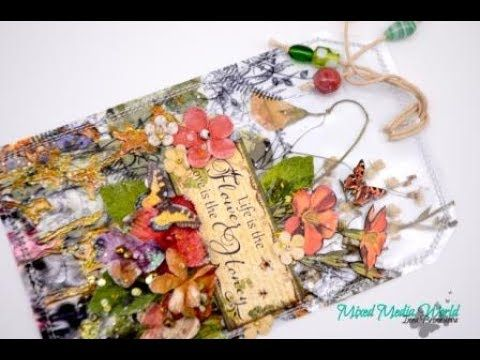 Transparent tag with dried herbs for Mix Media World  Step by step - YouTube