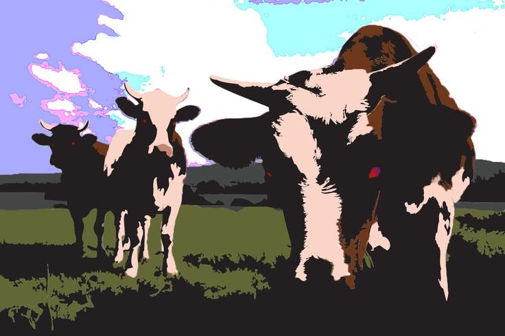 Graphics, Cows, Vector Poster. Got Milk?