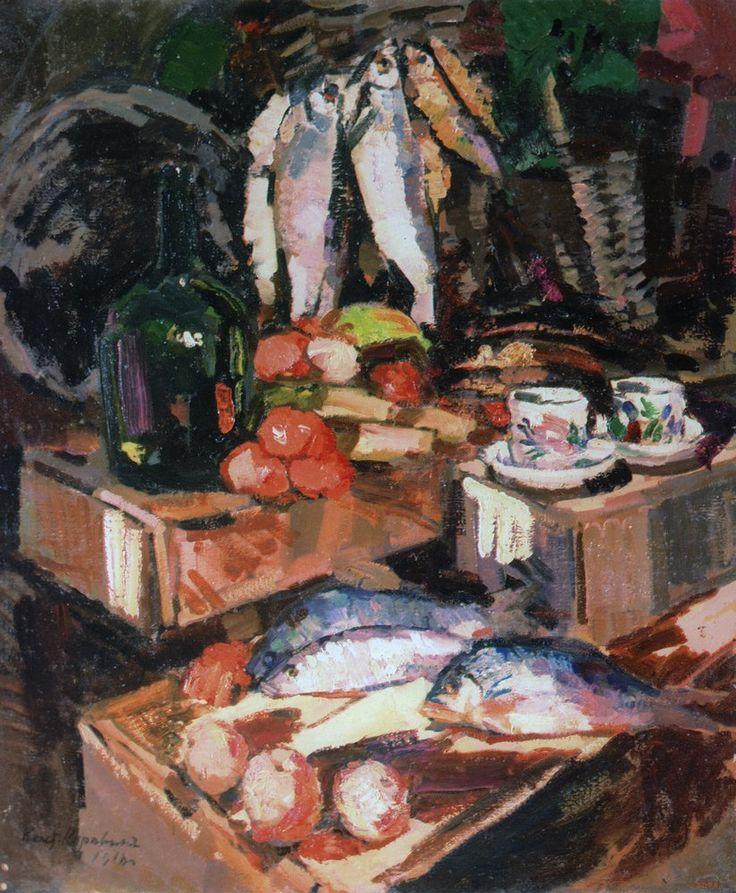 Константин Коровин. - Рыбы. 1916