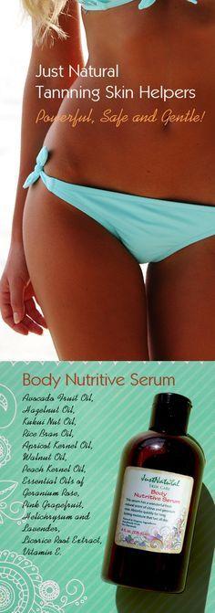 Body Nutritive Serum at http://www.justnaturalskincare.com/skin-tanning-skin-helpers/body-nutritive-skin-tanning-serum.html