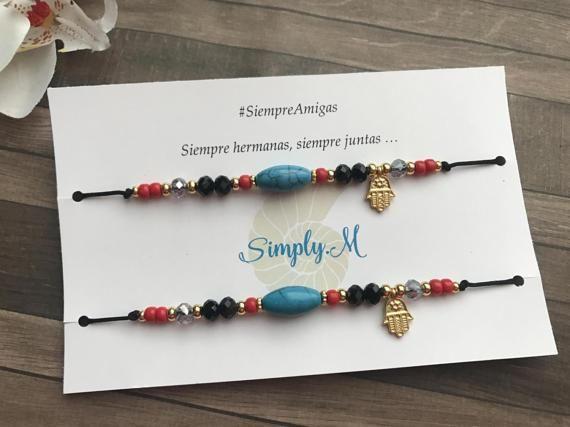 Best friends bracelet set. Pulseras de mejores por SimplyMpr