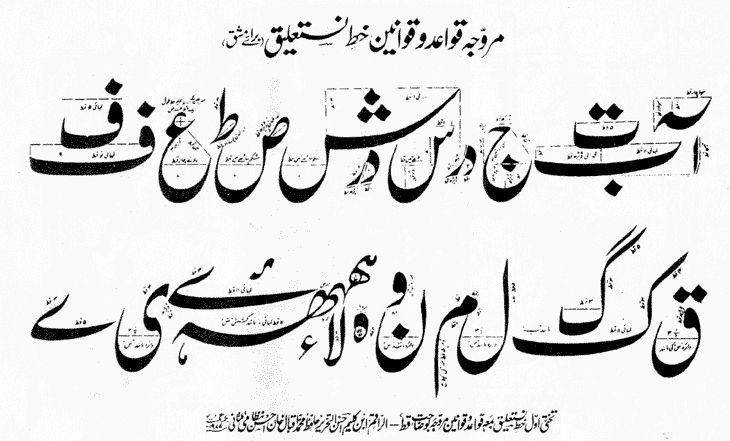 Logic Is Variable Khate E Ra Ana Calligraphy Script