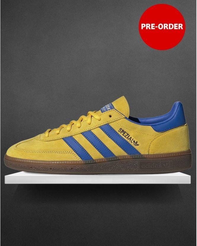 Adidas Handball Spezial Trainers Yellow/Blue | Adidas classic ...