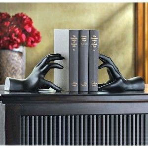 Par de Aparadores de Livros Mãos do Conhecimento
