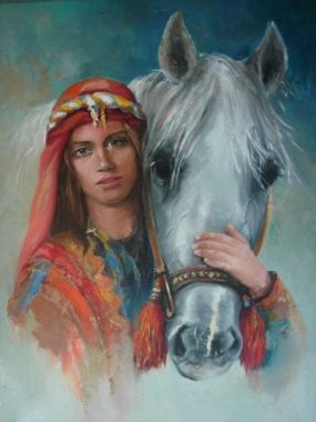 Remzi Iren -.Turkish Painter Anatolia headband