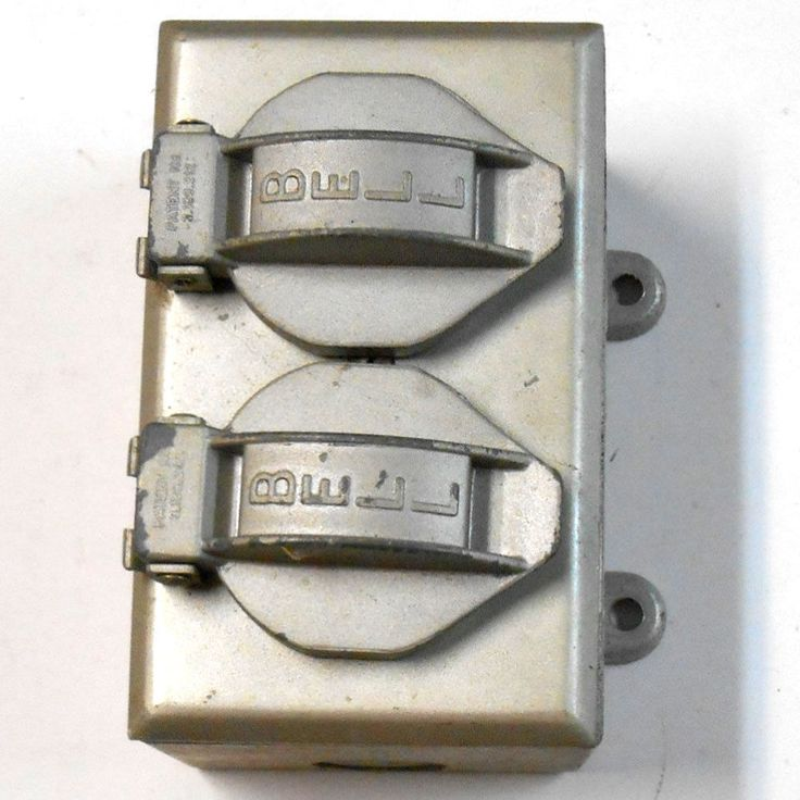 BELL Aluminum Outdoor Wall Plate Box Switch Flip Cover