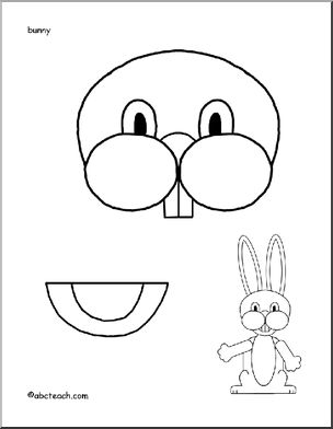 Easter Bunny Paper Bag Puppet. This would be cute to use