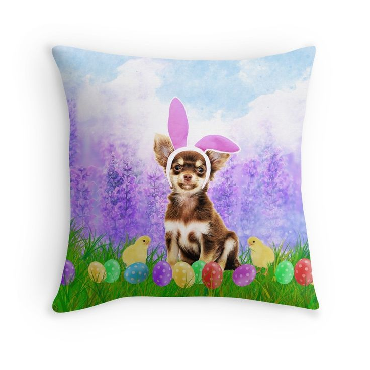 Cute #Chihuahua #Dog with #Easter Eggs Chics #eastereggs #flowers #pets