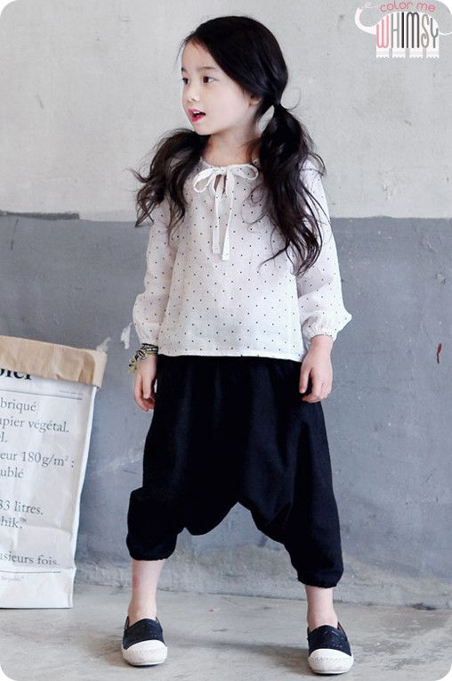 Cropped Harem Pants for for boys and girls 2-6. Cool kids fashion with play ready style at Color Me WHIMSY.