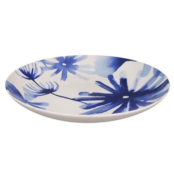 Blue Flower Plate (30cm)