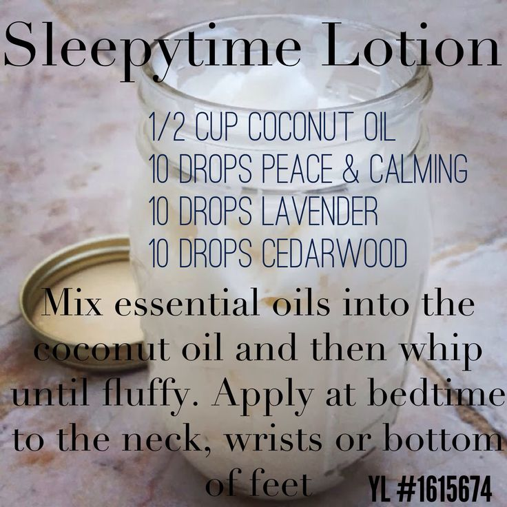 Essential oils for insomnia and trouble sleeping - a convenient creamy rub for bed time