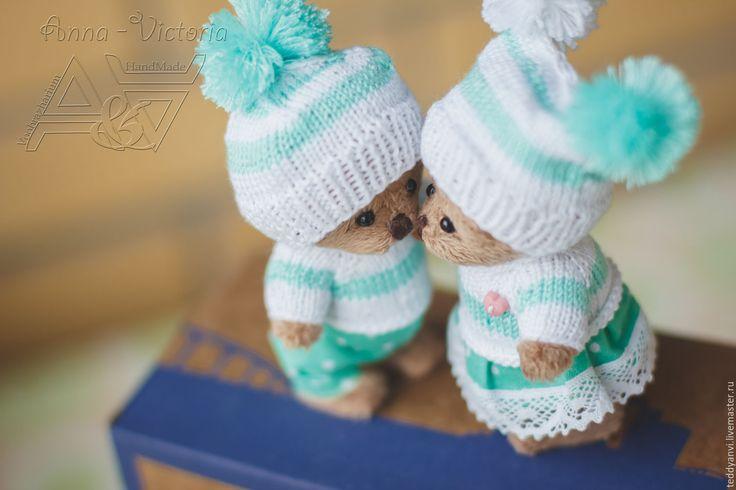 Купить Осенние Мишки - комбинированный, тедди, авторский мишка, тедди в подарок, подарить тедди