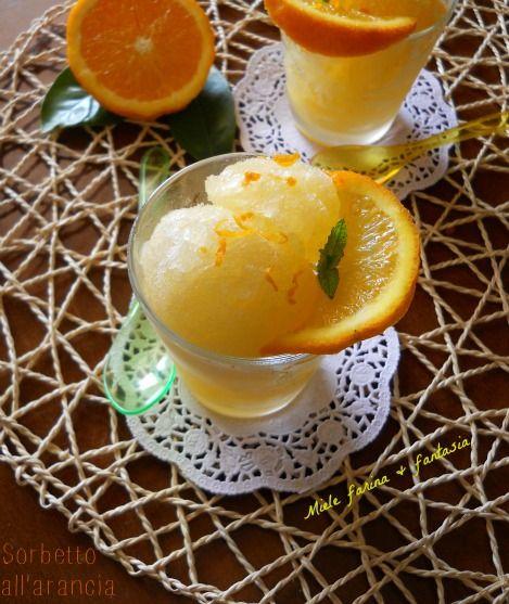 Sorbetto all'arancia senza gelatiera