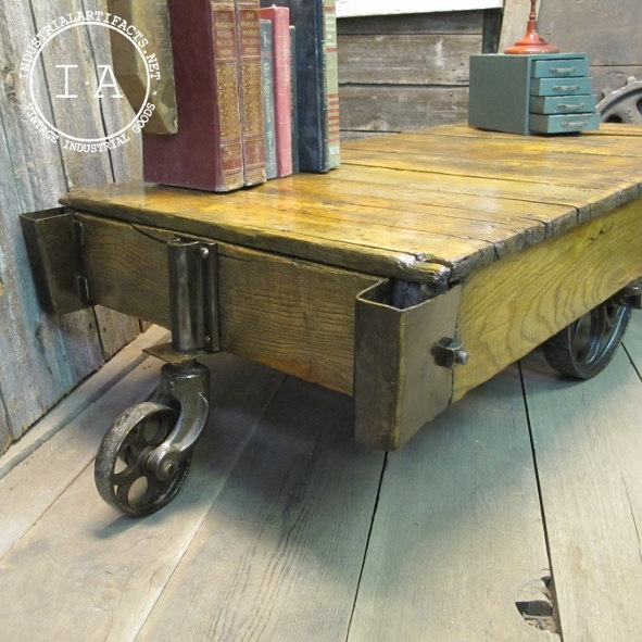 Old Industrial Cart Coffee Table: 65 Best Images About Industrial Cart Table On Pinterest