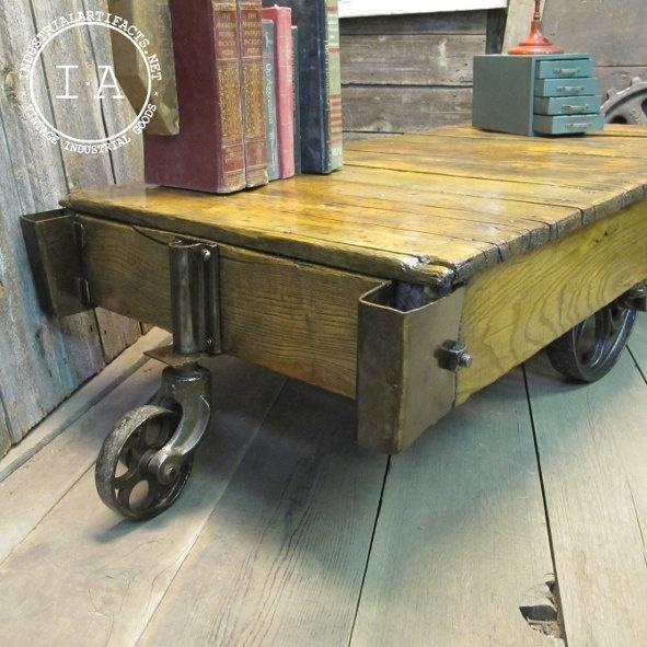 Vintage Industrial Cart Coffee Table: 65 Best Images About Industrial Cart Table On Pinterest