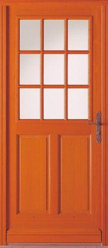 Auray - Porte d'entrée wood classical half window Bel'M