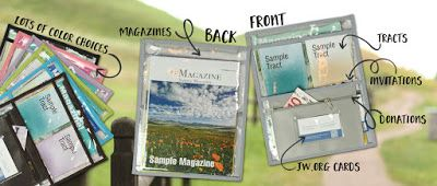 Ministry Ideaz: Our New JW Tract Holder: Transparent Zipper Pouch for Invitation Work & Special Campaigns