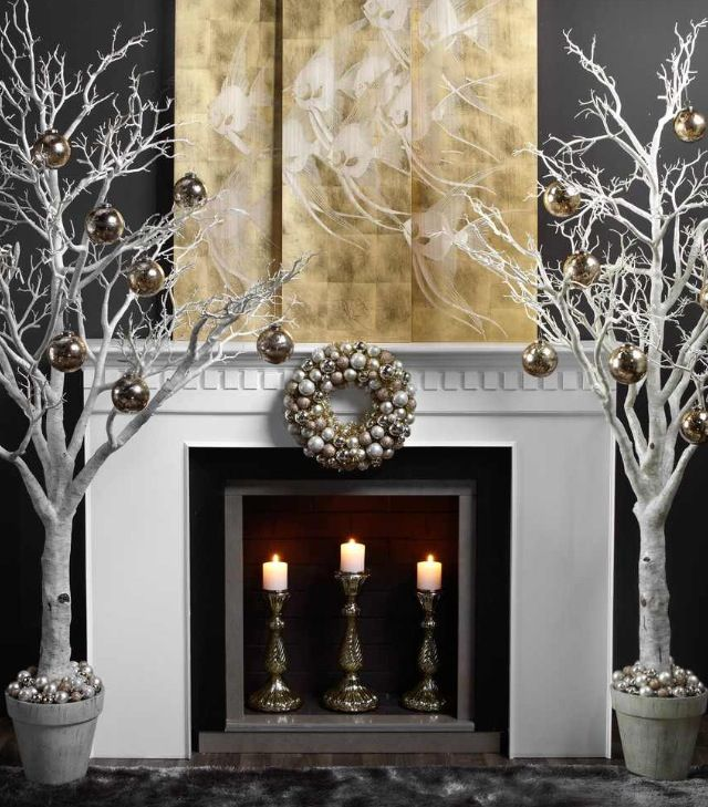82 best Christmas - Bronze Gold images on Pinterest Xmas - contemporary christmas decorations