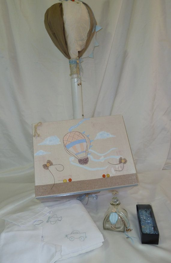 Baptism Set  Hot Air Balloon Theme by BaptismSupplies on Etsy