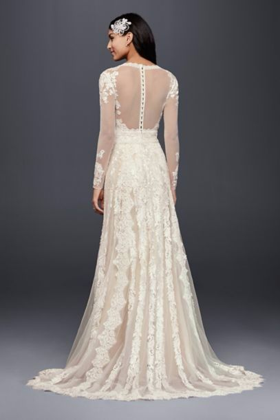 2016 New Arrived Limited Edition Melissa Sweet Linear Lace David's Bridal MS251173 Wedding Dress