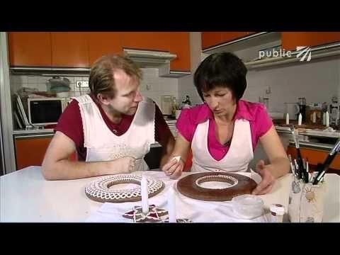 Perníkový adventní věnec - adventní věnec z perníku - VIDEO Jak se to dělá.cz