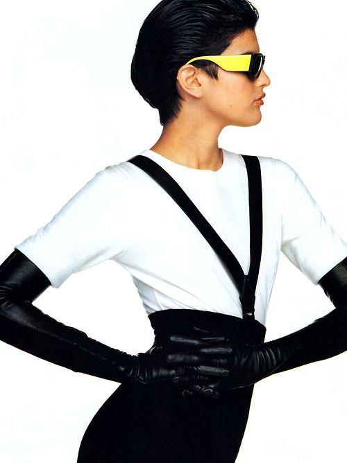Oliviero Toscani for Elle magazine, September 1987. Clothing by Azzedine Alaia.