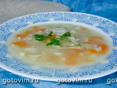 Куриный суп с домашней лапшой. Фотография рецепта