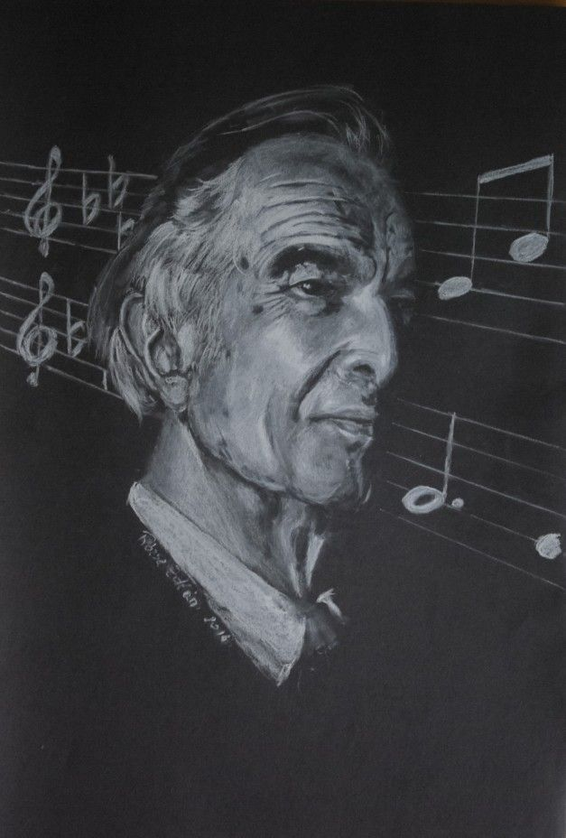White pencil-black paper-Dave Brubeck