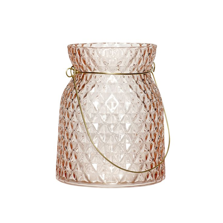 Small rose glass votive. Product number: 540105 - Designed by Hübsch