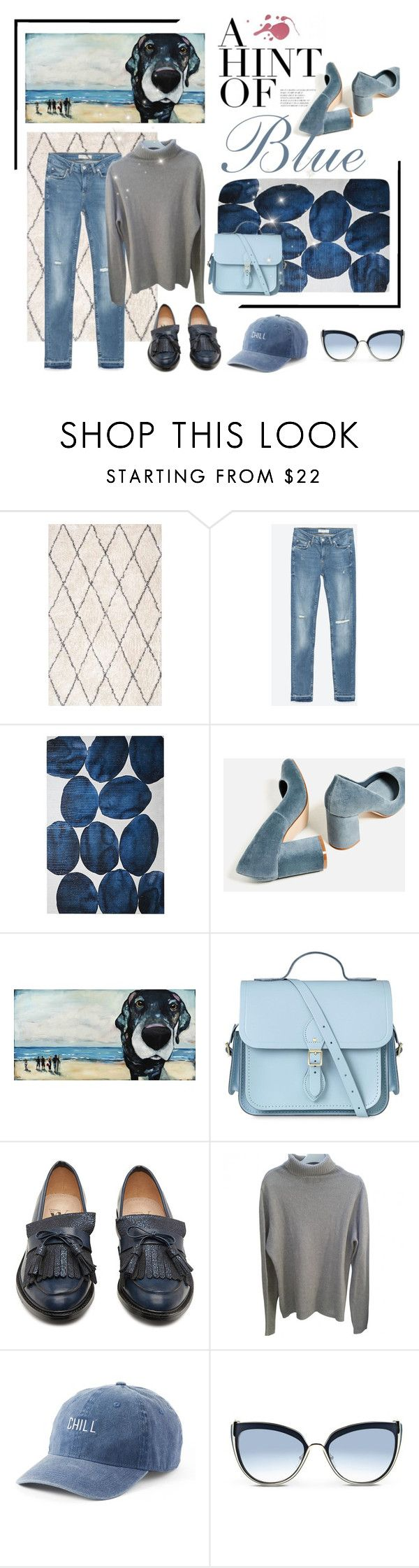 """Hint of Blue"" by ladeesse on Polyvore featuring Zara, The Cambridge Satchel Company, Vanessa Wu, SO et Karl Lagerfeld"