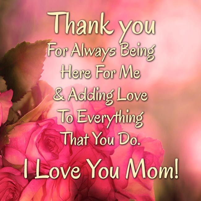 50 Thank You Mom Messages Wishesalbum Com I Love You Mom Mom And Baby Quotes Mom Baby Quotes