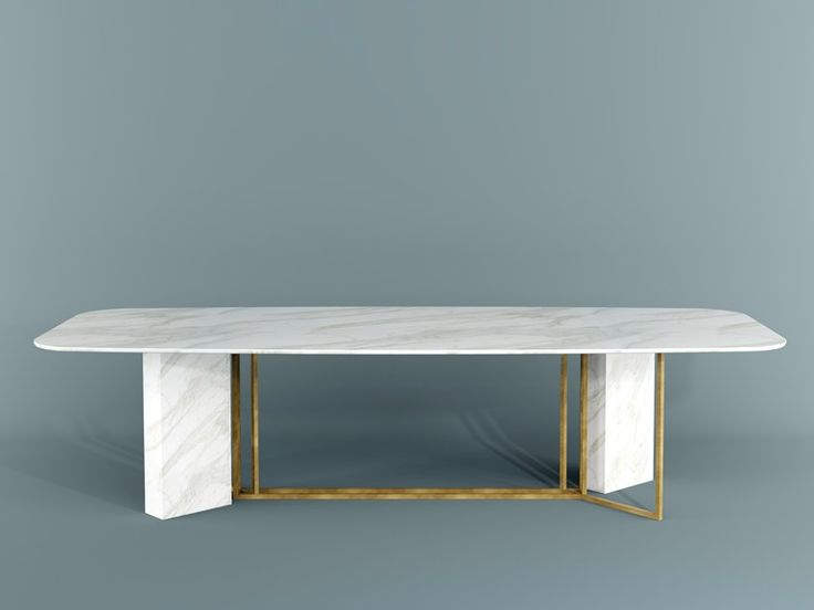 Rectangular dining table Plinto Collection by Meridiani | design Andrea Parisio