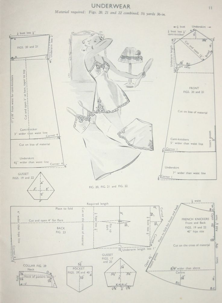Slip and Knickers Pattern Drafting