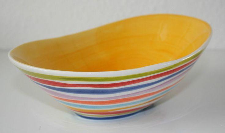 BASSANO ovale mediterrane Schale Schüssel mediterrane italienische Keramik 30x21