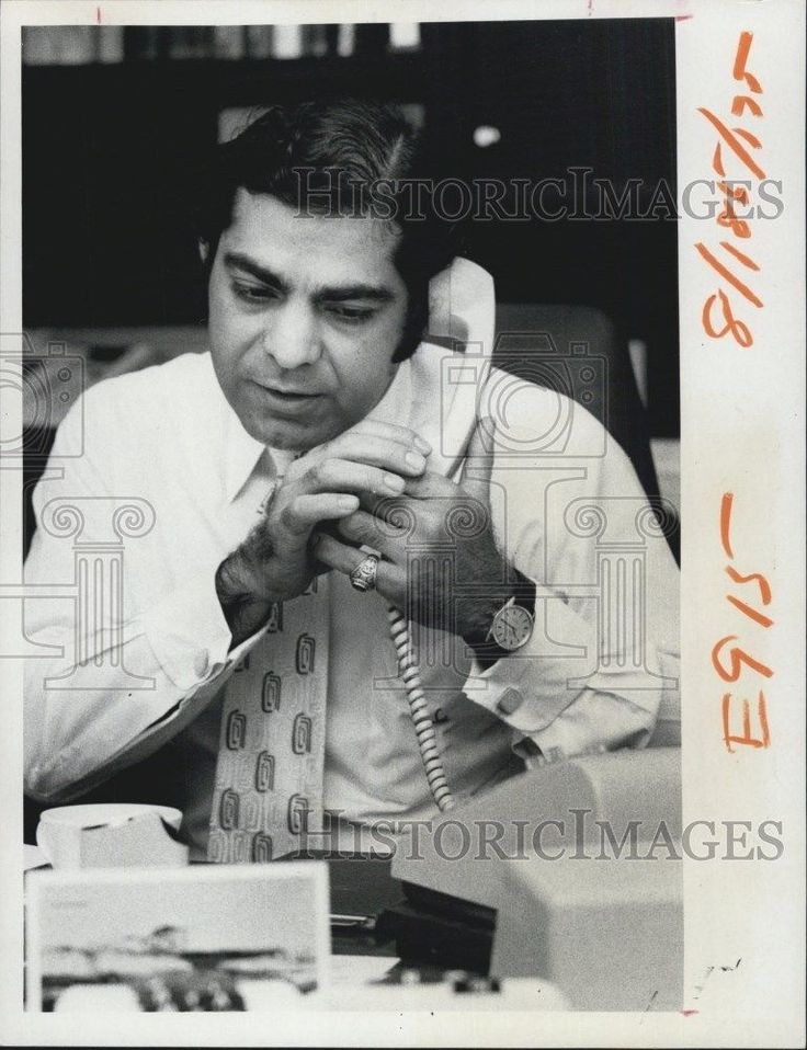 1972 Press Photo Salu Devnani executive vice president Safety Harbor Spa