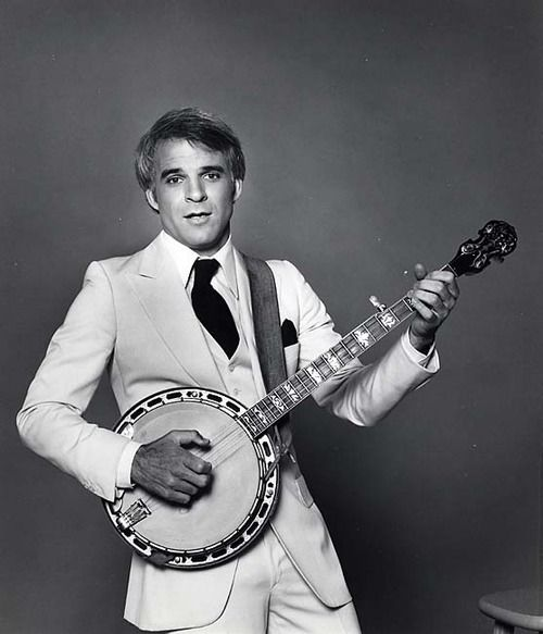 "Steve Martin.  Everyone had his album ""Wild and Crazy Guy.""  First of the ""rock star"" comedians."