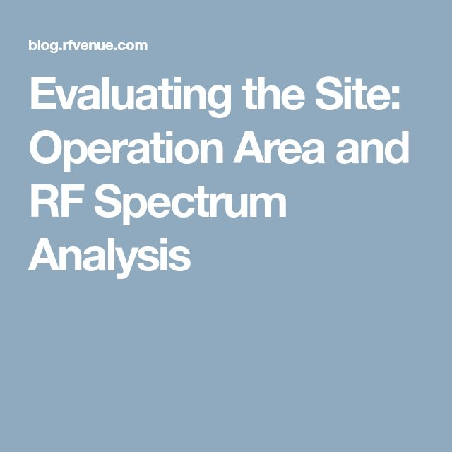 Versatile, multi-functional platform for advanced RF analysis - vendor analysis