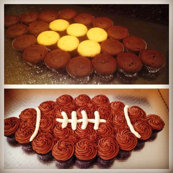 Swirls Cupcakes!: Football Cupcake Cake :)