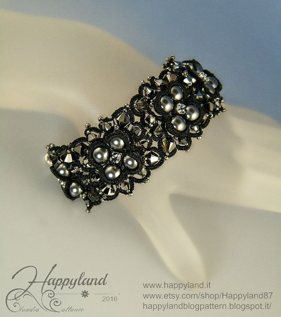 Un battito d'ali tatting bracelet pattern by Happyland87 on Etsy