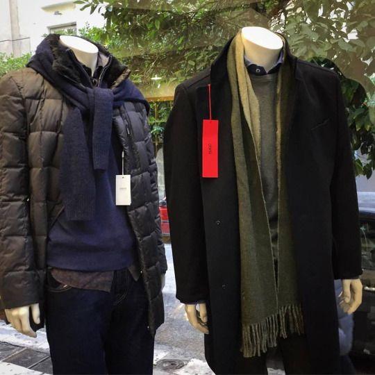 Outfits to stay warm, but still look elegant.  Armani outerwear: https://goo.gl/kRxz7T Hugo Boss Coat: https://goo.gl/jvXRFt — at Incrocio.  #incrocio #boss #armani