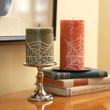 Spiderweb Candles