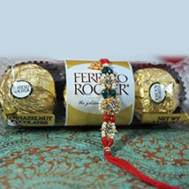 Rakhi + 3pc Ferrero Rocher