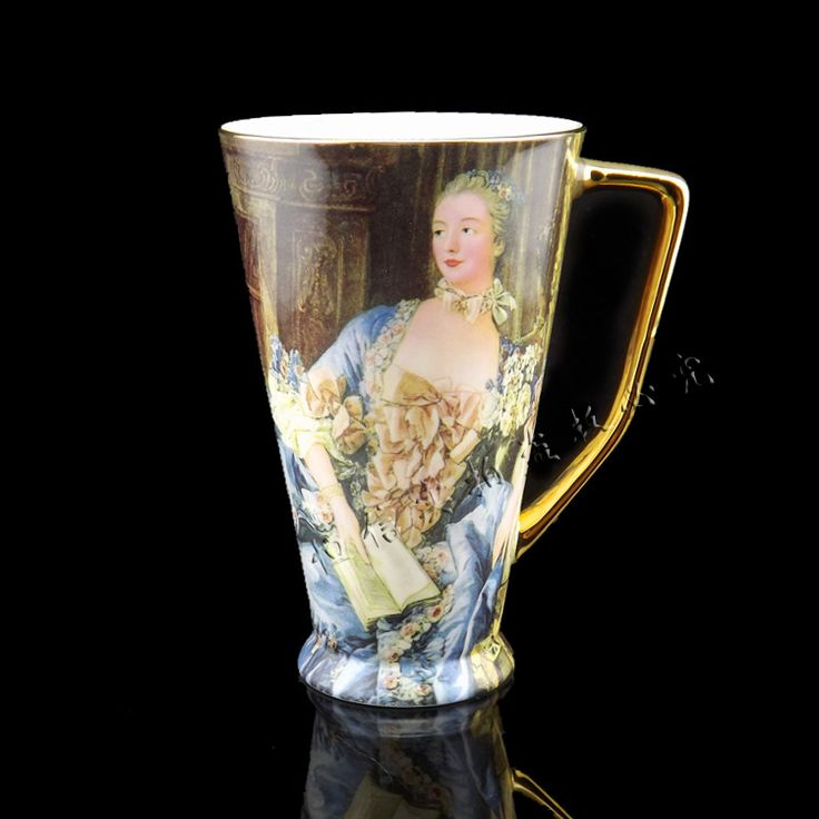 kahve fincanı siyah çay bardağı kemik çini kupa seti moda İngiliz bira bardağı büyük seramik bardak