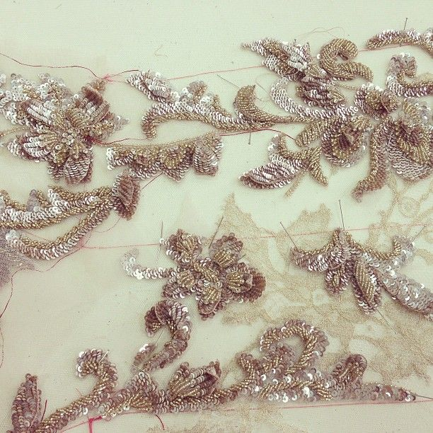 #couture in the making. #gold #platinum #embroidery