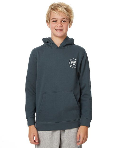Features: Style: Kids Boys Jumper Colour: Dark Slate  Material: 60% Cotton 40% Polyester  Regular fit  Fixed hood Ribbed cuff & hemline  Front joey pocket  Print to chest & back